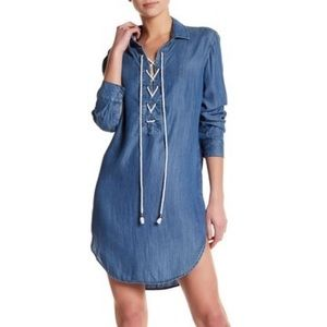 Rails || Rachel Lace-Up Long Sleeve Dress